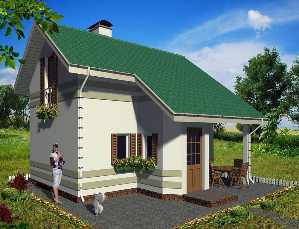 Каркас дачного дома