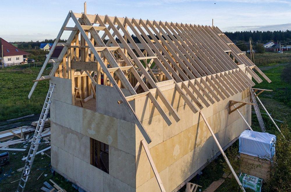 Монтаж крыши каркасном доме