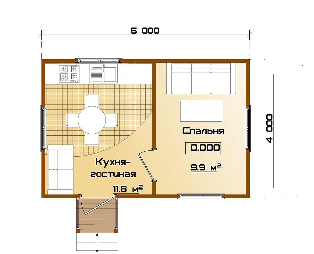 План небольшого дома для дачи
