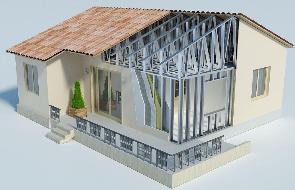 Дом с металлокаркасом