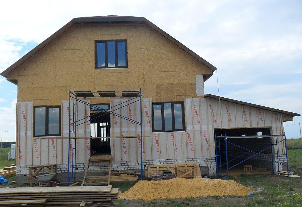 Каркасный дом нуждается в защите от ветра