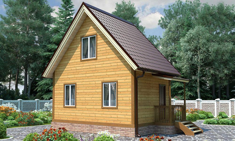 Каркасный дом на два этажа 6х4