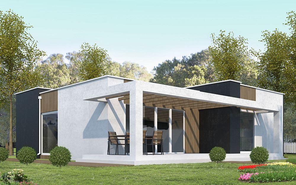 Красивый каркасный дом в современном стиле