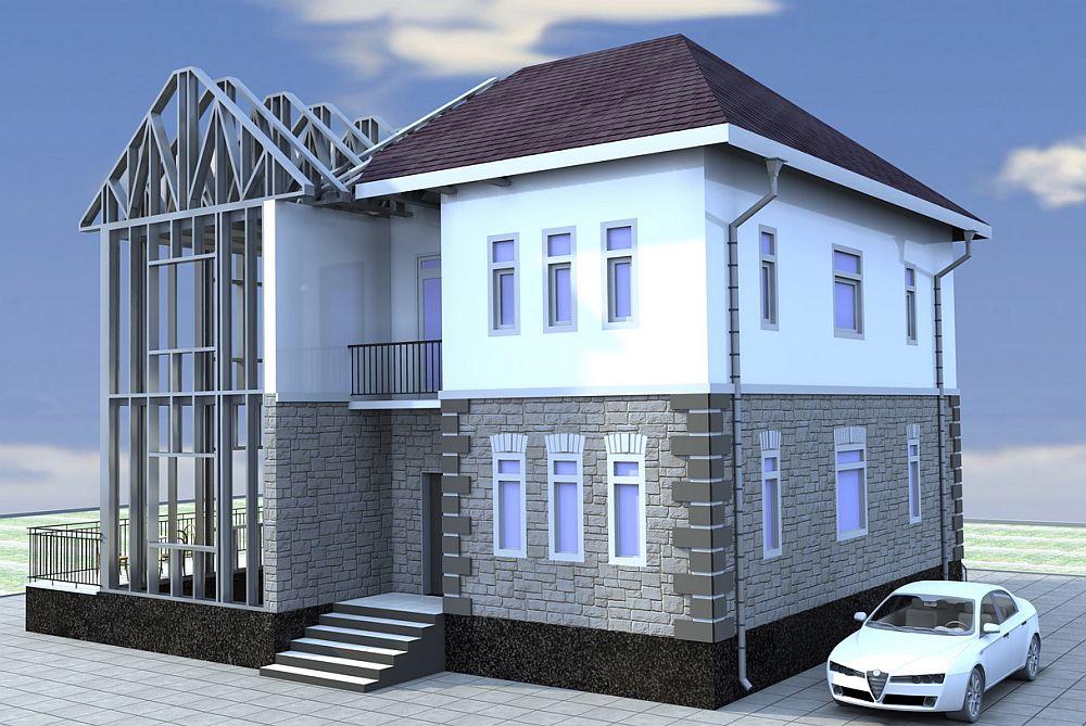 Дом с металлическим каркасом