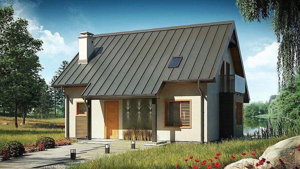 Готовый дом с оштукатуренным фасадом