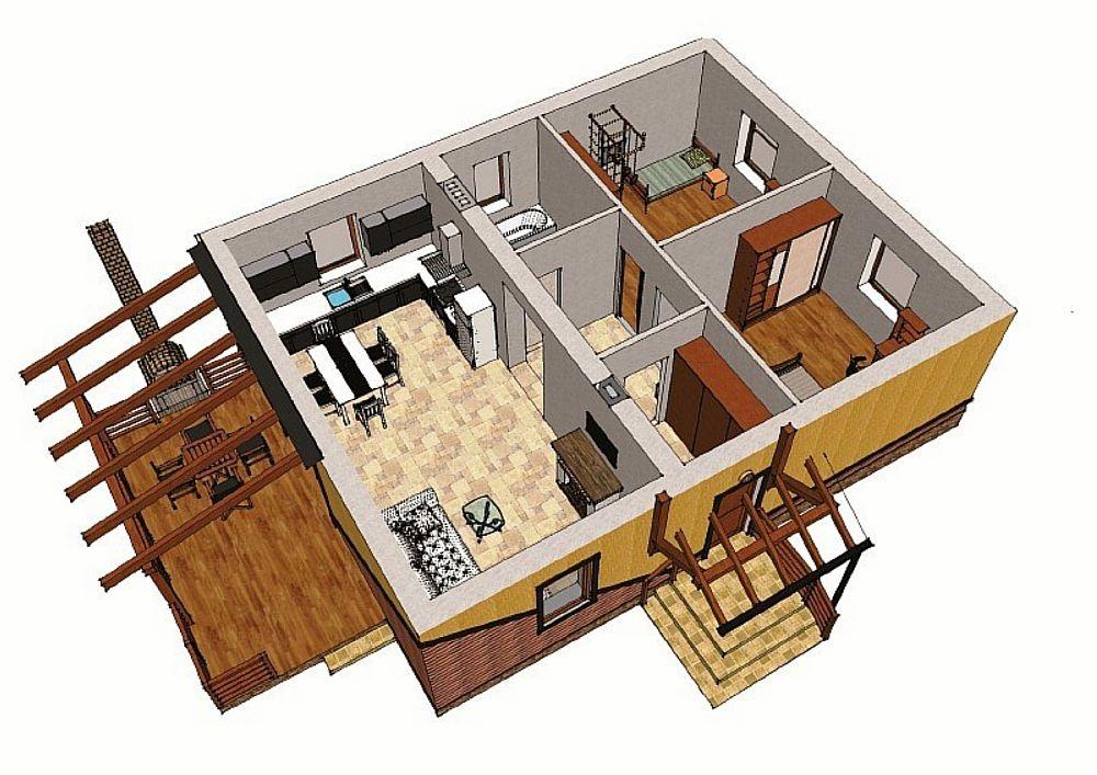 Планировка дома из СИП-панелей