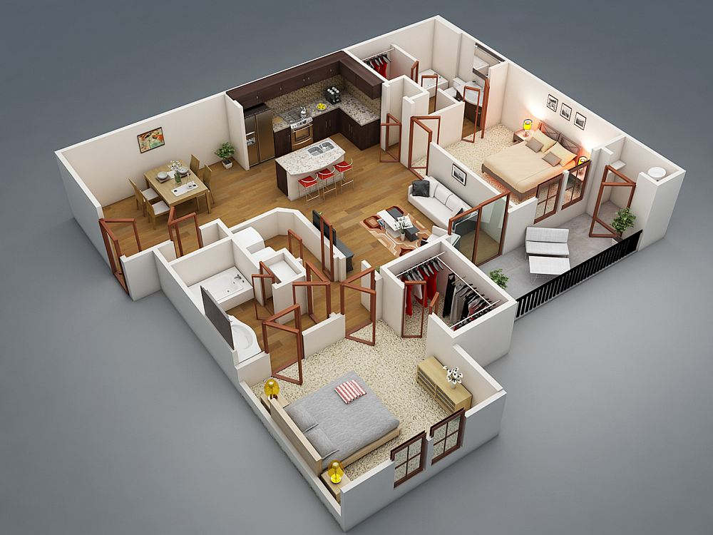 Внутреннее пространство проектируют одновременно с домом