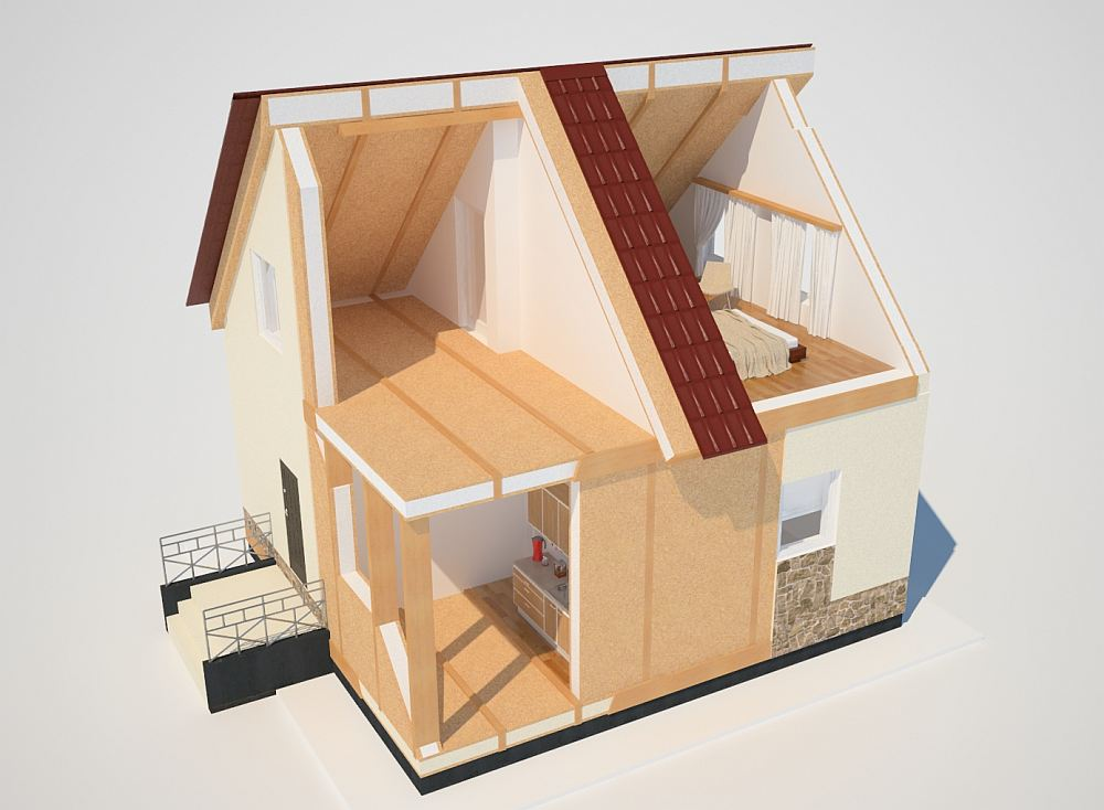 Проект дома из СИП-панелей