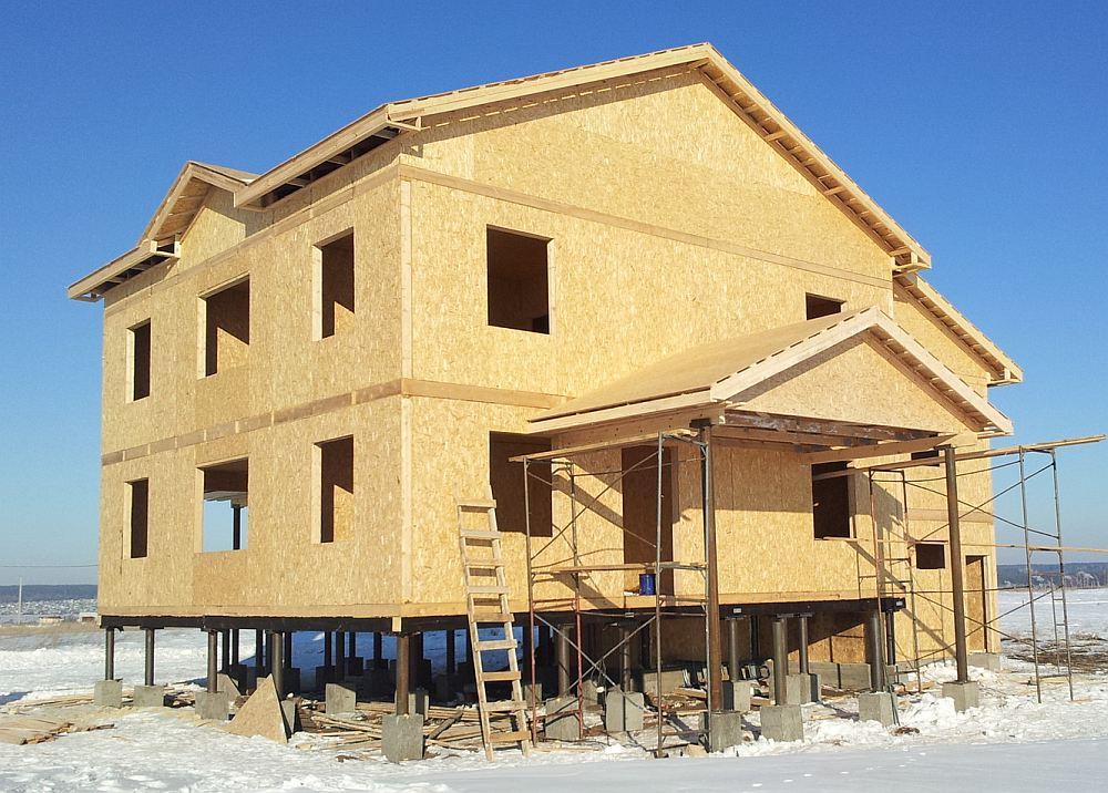 Дом из панелей на свайном фундаменте