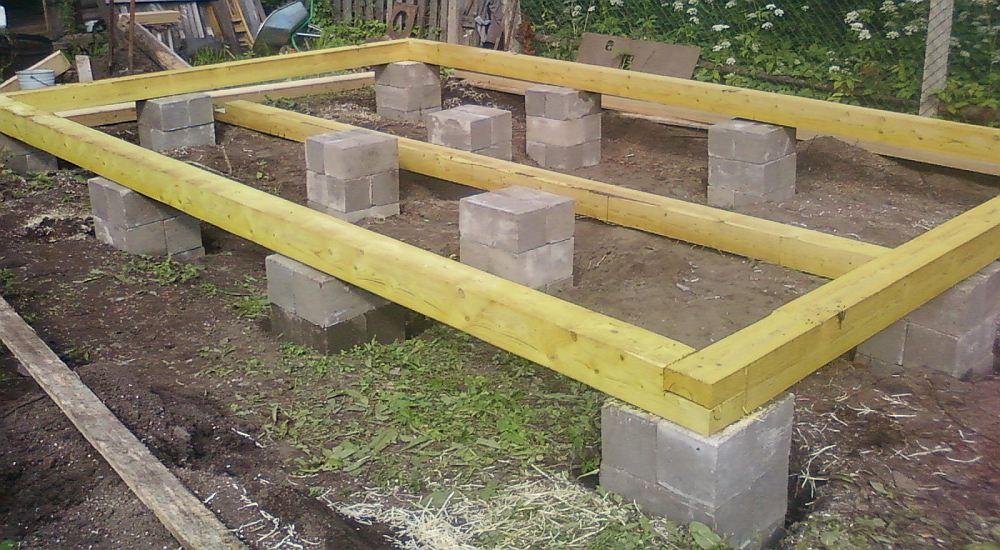 Столбчатый фундамент для небольшого строения