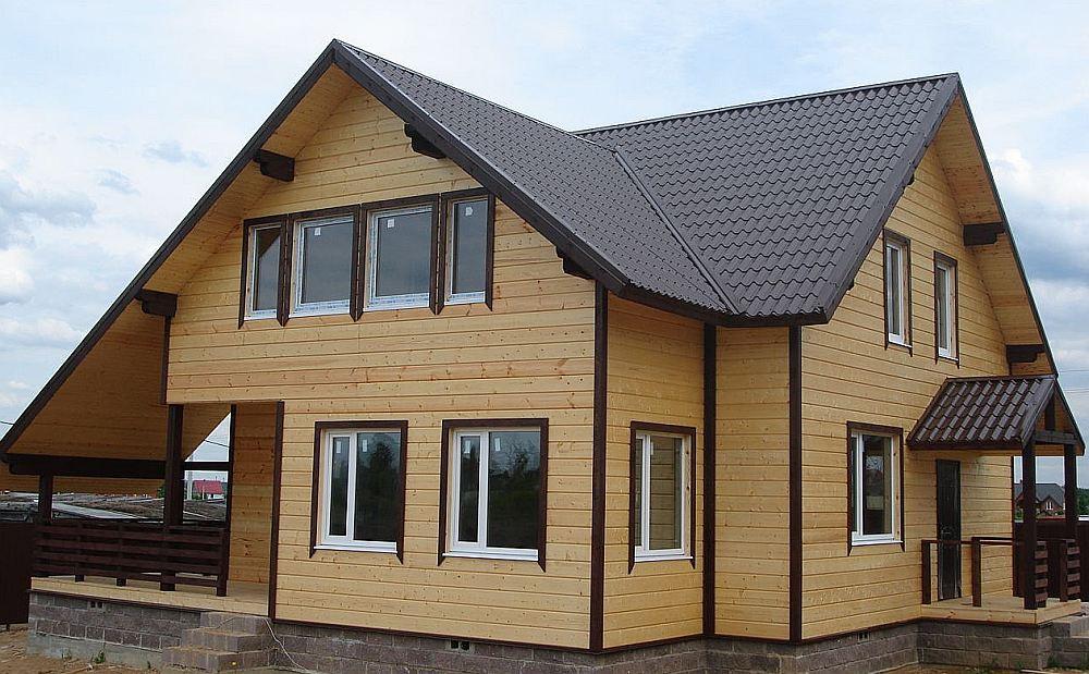 Двухэтажный каркасный дом для постоянного проживания
