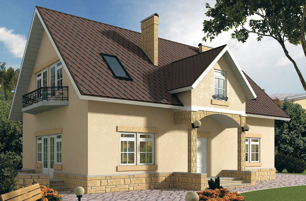 Дом с фасадом из ОСП