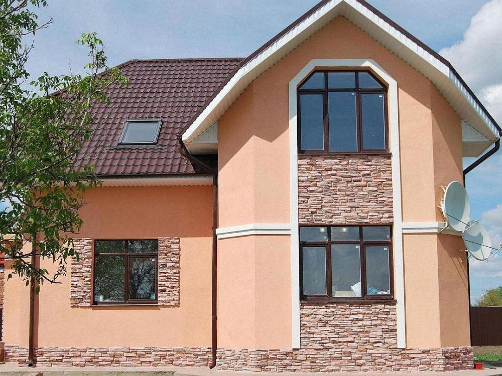 Каркасный дом с мокрым фасадом