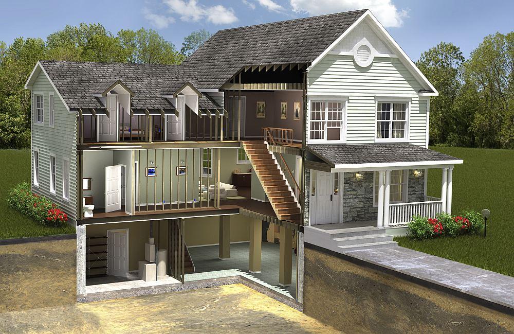 Проект дома с нулевым этажом