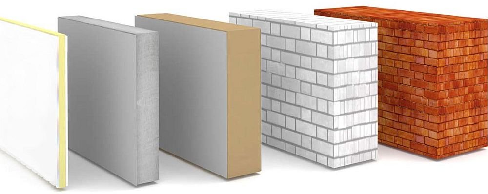 Требуемая толщина стеновых материалов