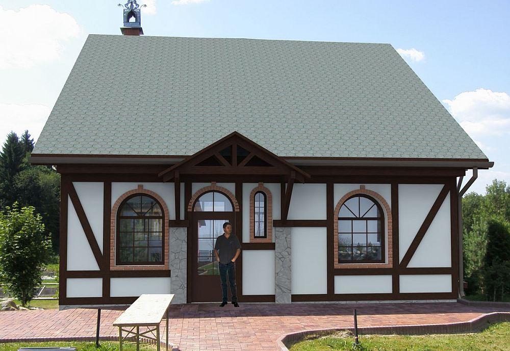 Одноэтажный фахверковый дом