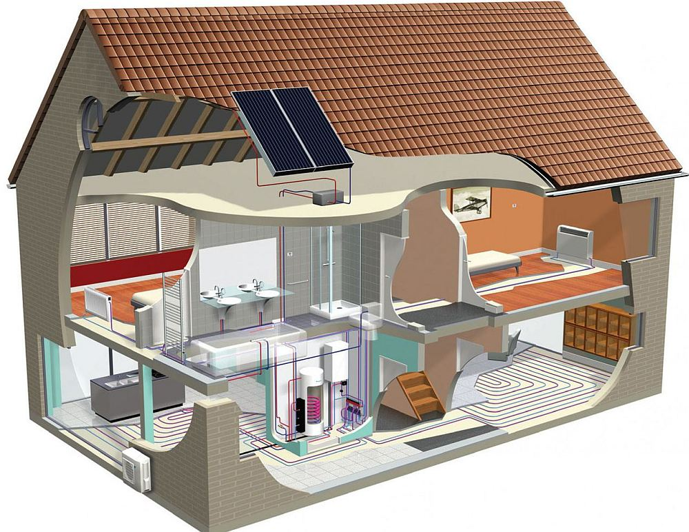 Энергоэффективный дом в разрезе