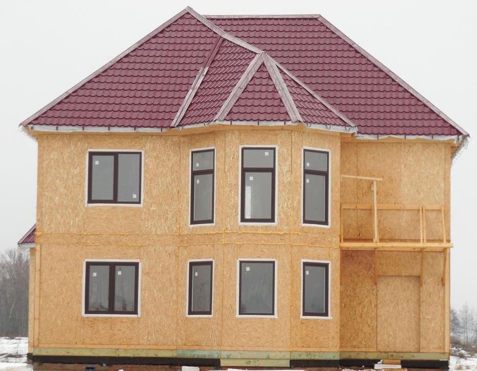 Двухэтажный дом из СИП-панелей