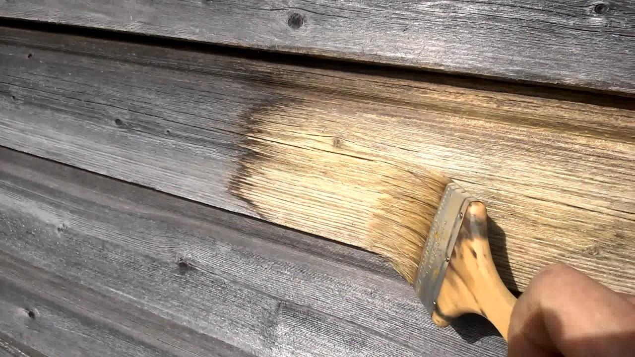 Действие отбеливателя для древесины