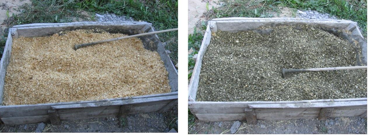 Процесс изготовления опилочной смеси