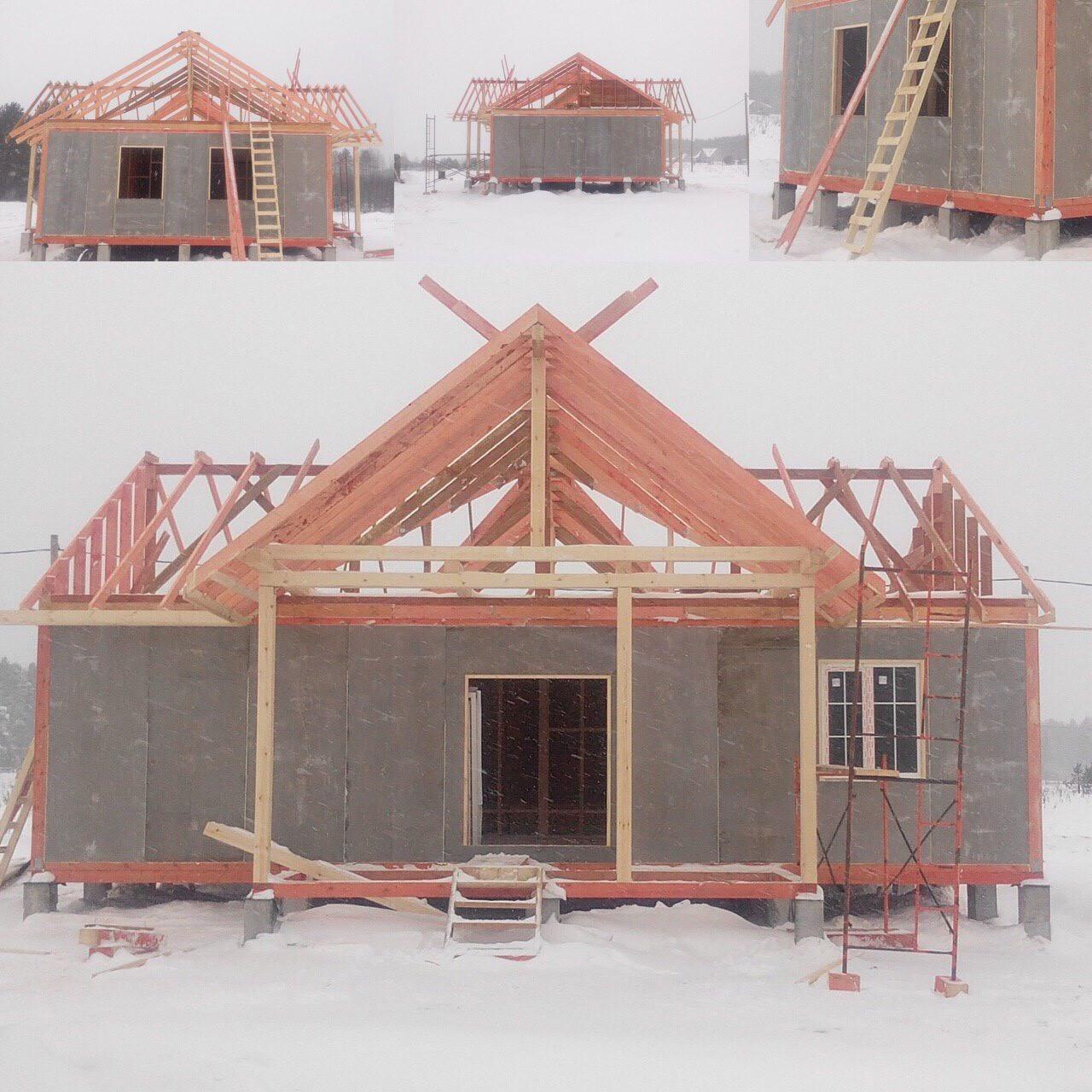 Быстровозводимые дома можно строить в любое время года