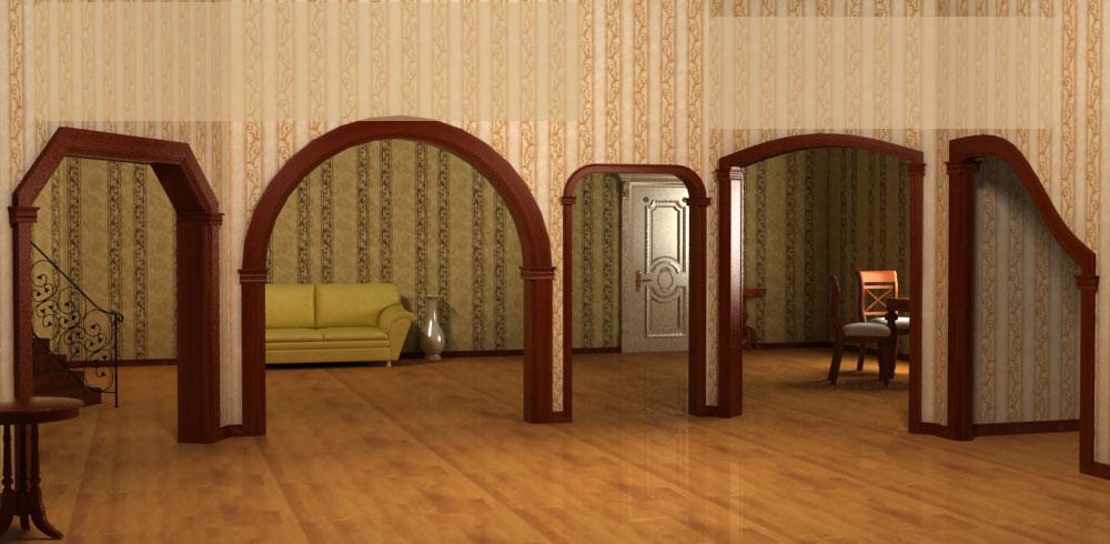 Виды деревянных арок