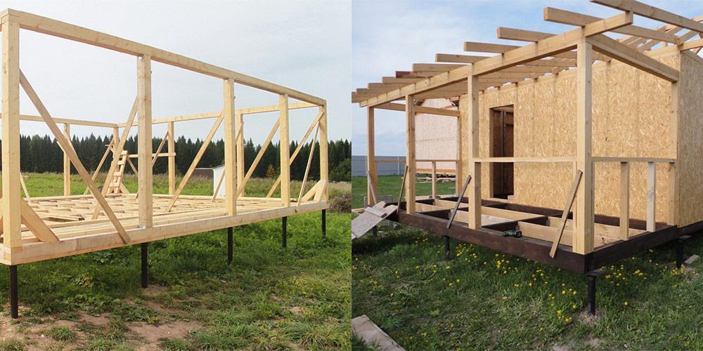 Строительство каркасного мини дома