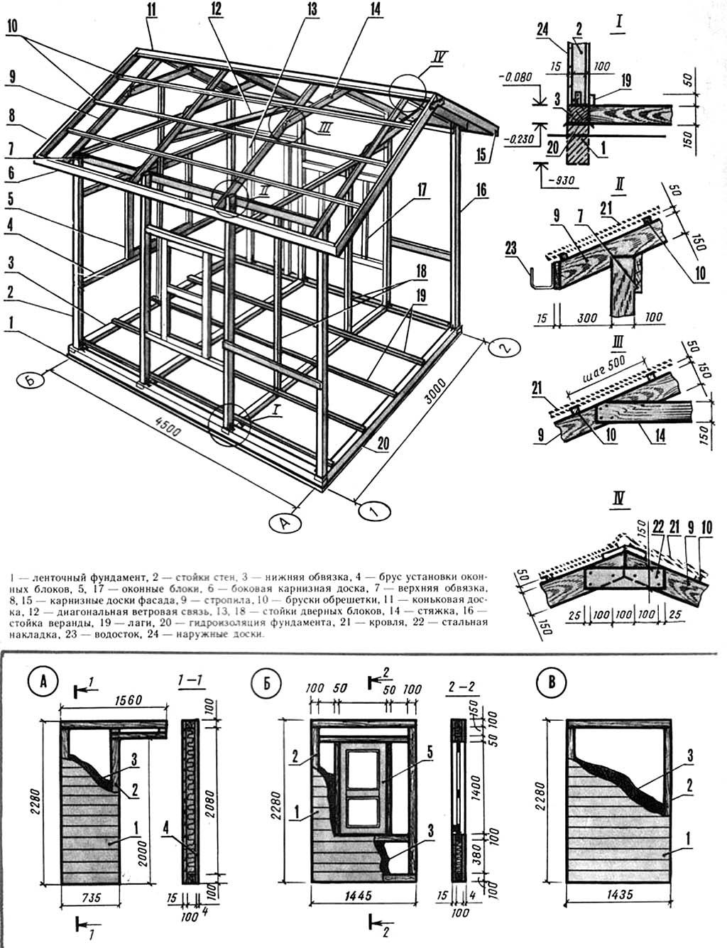 Схема сборки мини дома