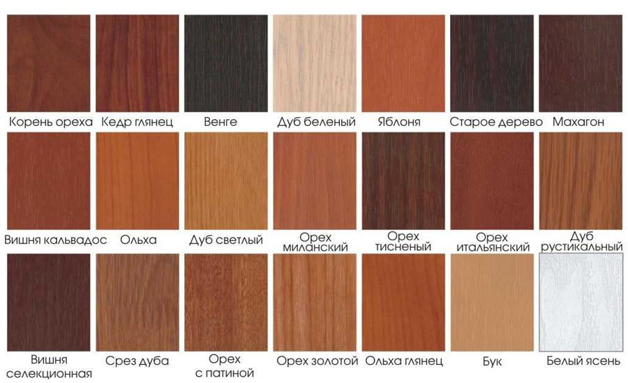Классические цвета МДФ