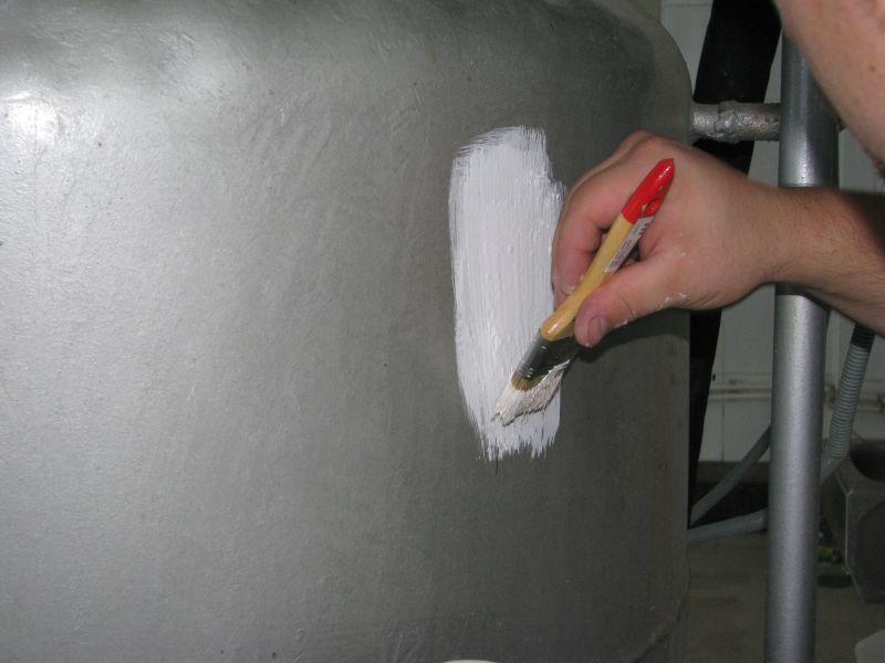 Нанесение теплокраски кистью