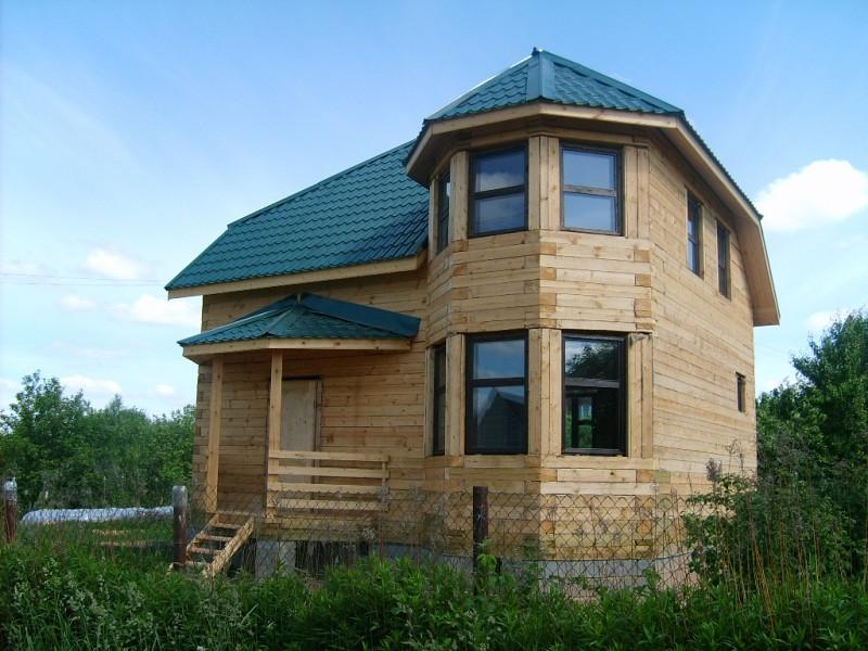 Каркасный дом с эркером