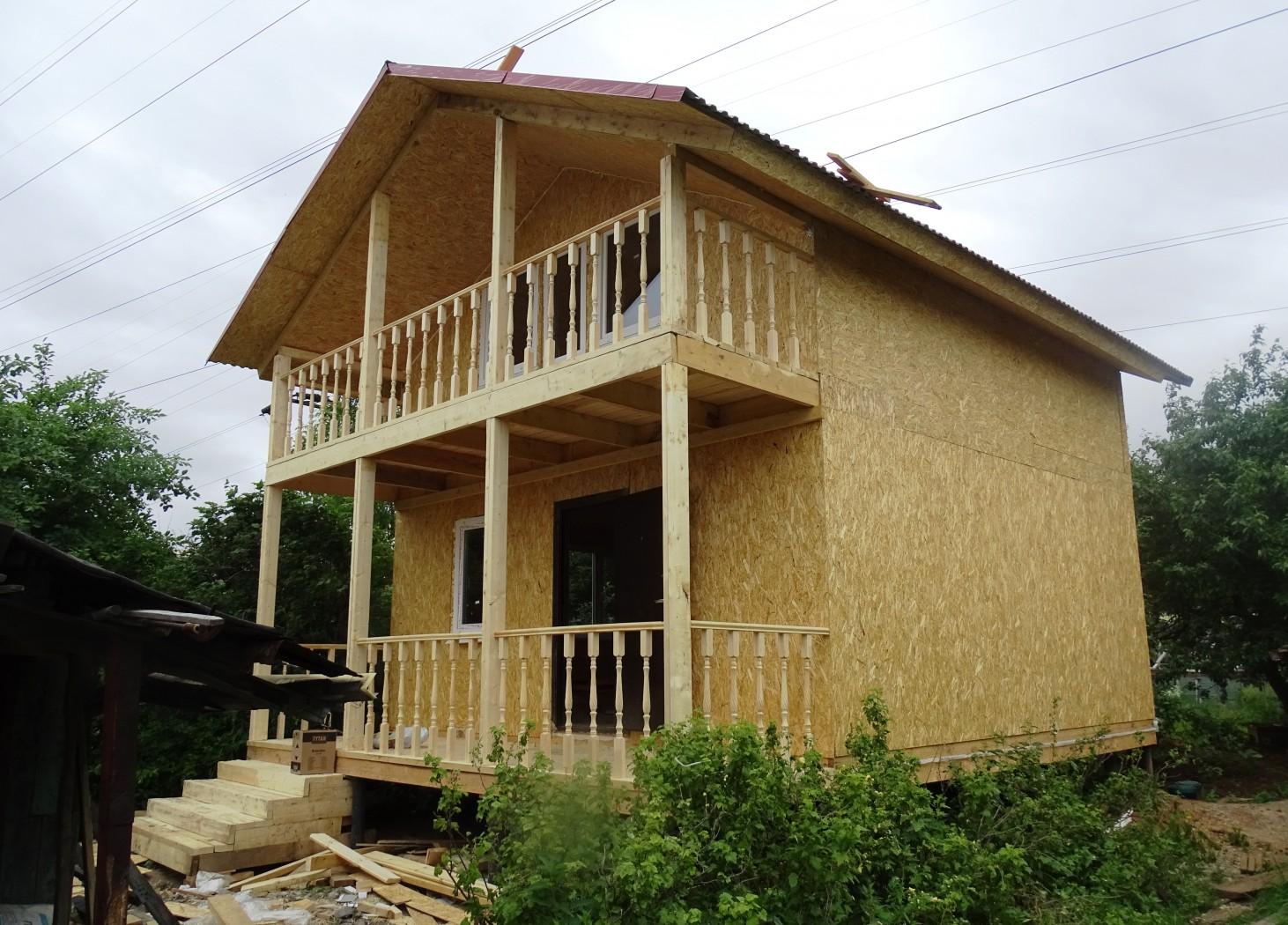 Балкон на вертикальных опорах