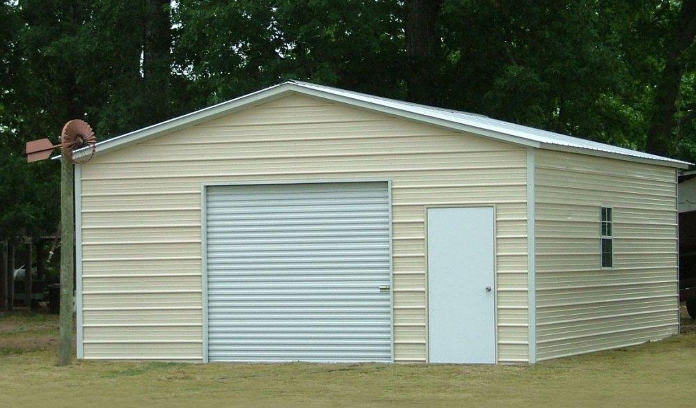 Каркасный гараж из профильной трубы