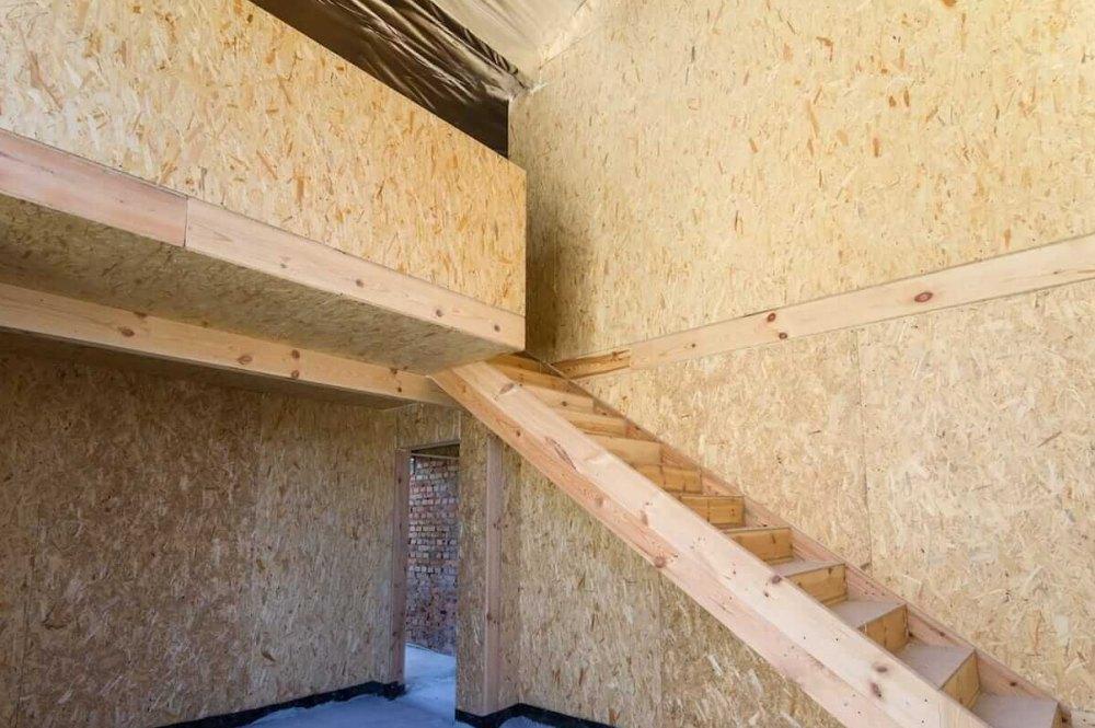 Стены внутри без отделки