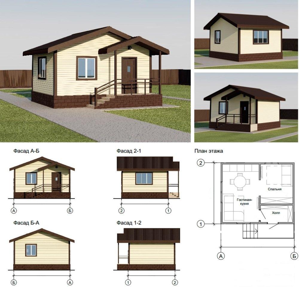 Проект и план дома с крыльцом