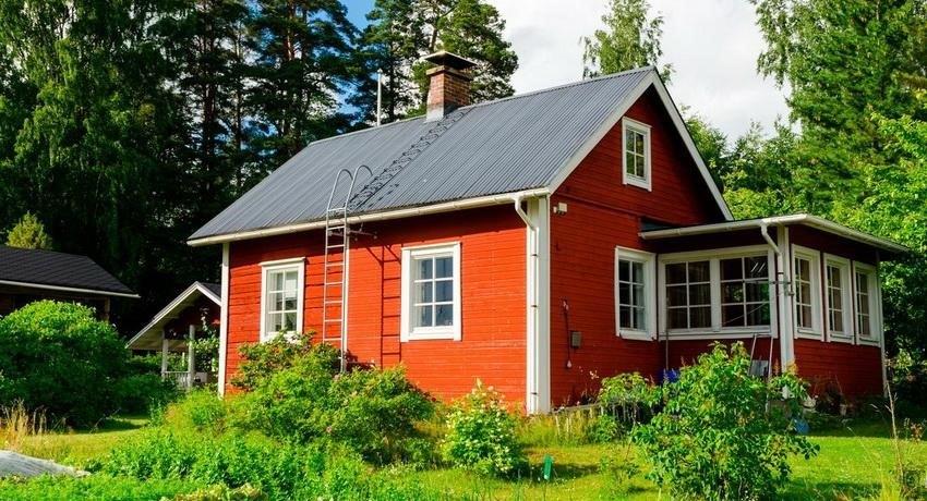 Проект финского домика с верандой